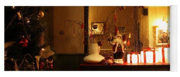 Traditional English Christmas Yoga Mat