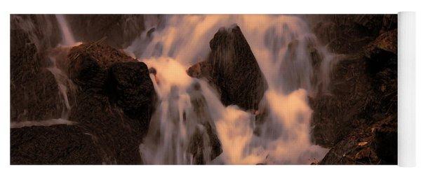 Traditional Waterfall At Sunset Yoga Mat
