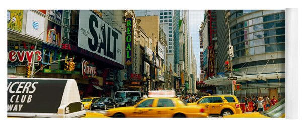 Traffic In A City, 42nd Street, Eighth Yoga Mat