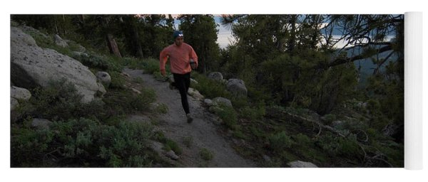 Trail Runner With Headlamp Yoga Mat