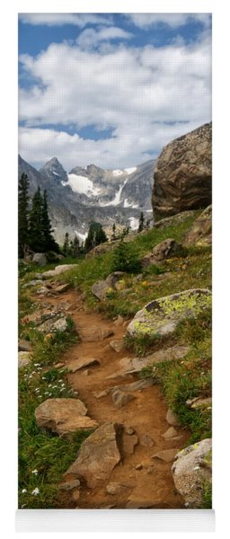 Trail To Lake Isabelle Yoga Mat