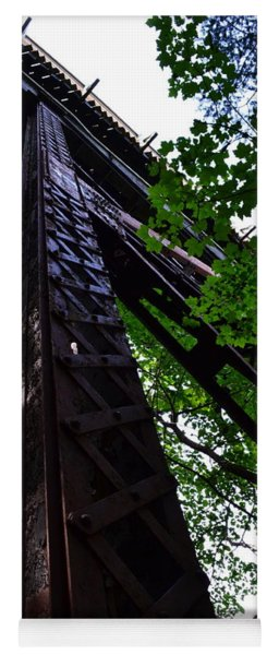 Train Trestle In The Woods Yoga Mat
