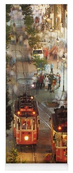 Trams In Beyoglu Yoga Mat