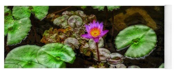 Tranquility - Lotus Flower Koi Pond By Sharon Cummings Yoga Mat