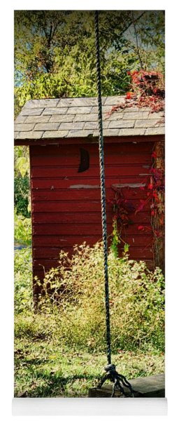 Tree Swing By The Outhouse Yoga Mat