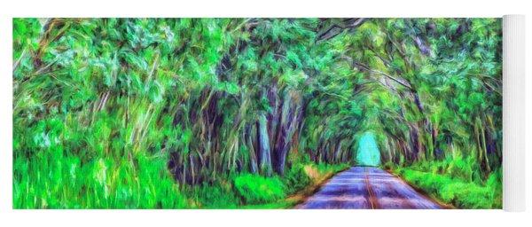 Tree Tunnel Kauai Yoga Mat