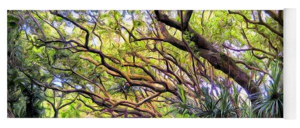 Tree Tunnel On The Big Island Yoga Mat