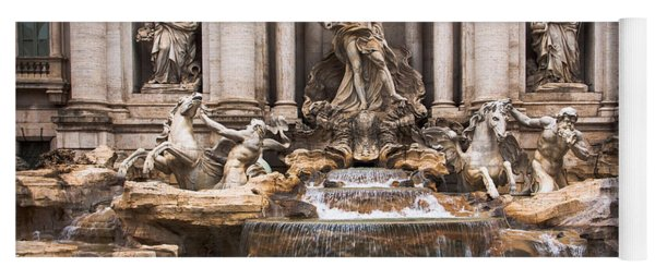 Yoga Mat featuring the photograph Trevi Fountain by John Wadleigh