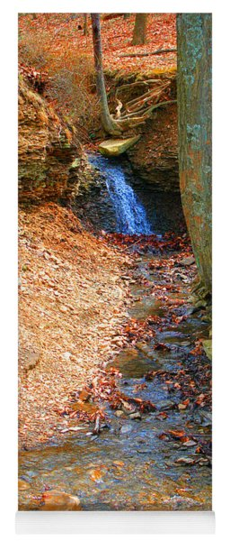 Trickling Waterfall By Shellhammer Yoga Mat