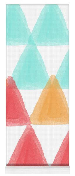 Trifold- Colorful Abstract Pattern Painting Yoga Mat