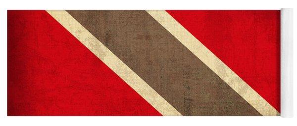 Trinidad And Tobago Flag Vintage Distressed Finish Yoga Mat