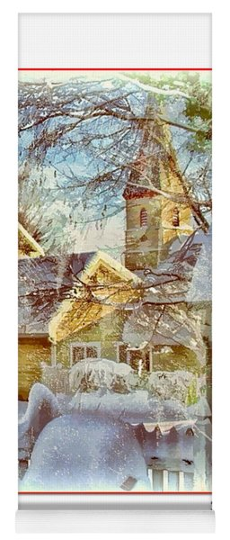 Trinity Episcopal Church In The Snow - Shepherdstown  Yoga Mat