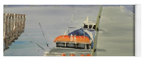 Trinity Long Line Fishing Trawler At San Remo  Yoga Mat