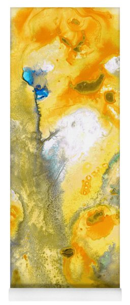 Triumph - Yellow Abstract Art By Sharon Cummings Yoga Mat