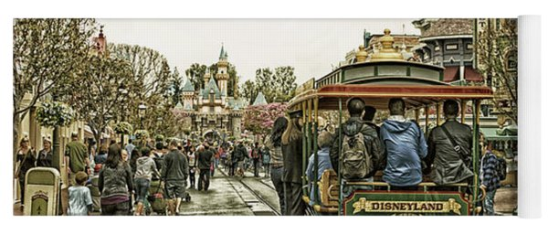 Trolley Car Main Street Disneyland Antique Yoga Mat