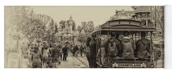 Trolley Car Main Street Disneyland Heirloom Yoga Mat