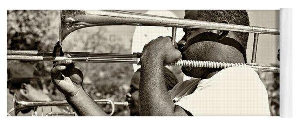Trombone Man Sepia Yoga Mat