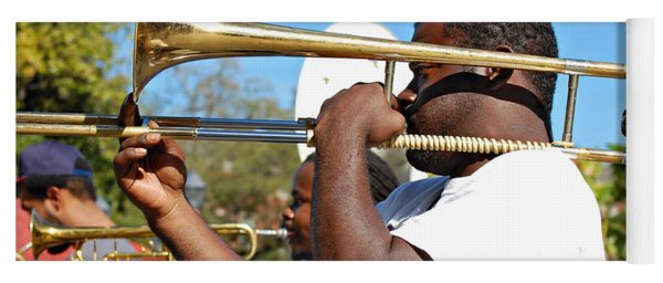 Trombone Man Yoga Mat