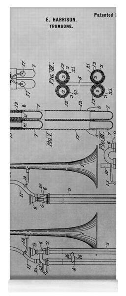 Trombone Patent Drawing Yoga Mat