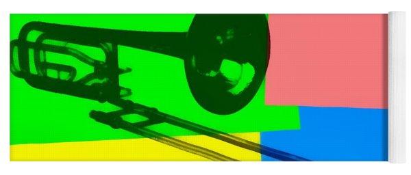 Trombone Pop Art Yoga Mat