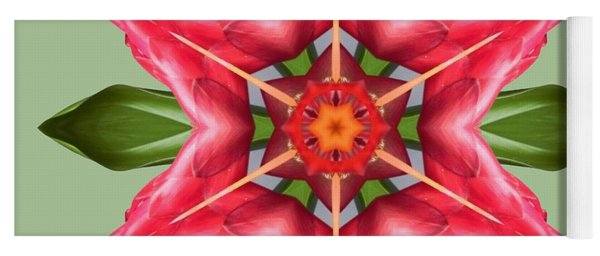 Tropical Flower Mandala Yoga Mat