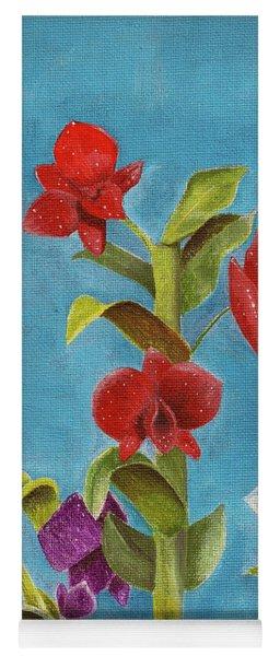 Tropical Flower Yoga Mat