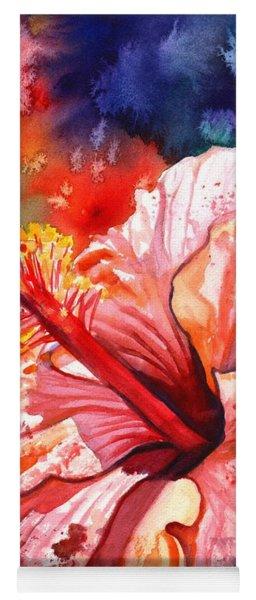 Tropical Pink Hibiscus Yoga Mat