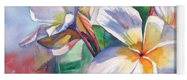Tropical Plumeria Flowers Yoga Mat