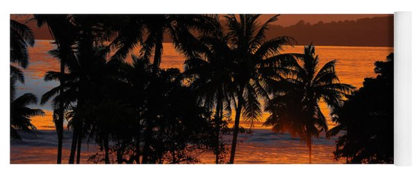 Yoga Mat featuring the photograph Tropical Sunset In Blues by Jocelyn Friis