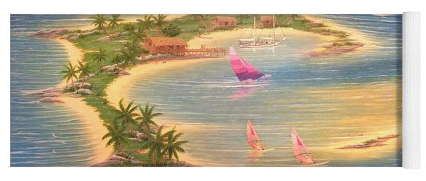 Tropical Windy Island Paradise Yoga Mat