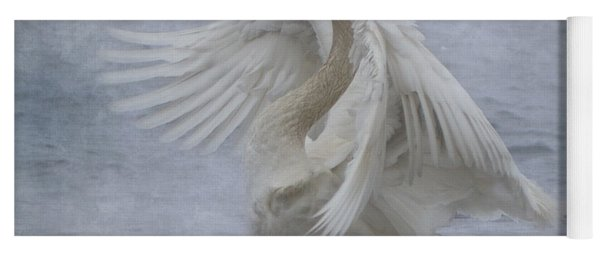 Trumpeter Swan - Misty Display Yoga Mat