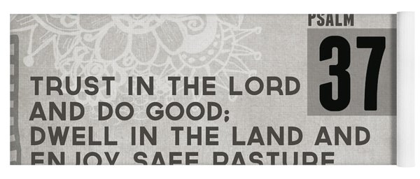 Trust In The Lord- Contemporary Christian Art Yoga Mat