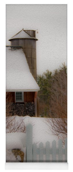 Tuftonboro Farm In Snow Yoga Mat