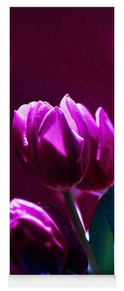 Tulips In Purple Yoga Mat