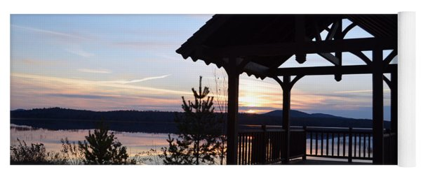 Tupper Lake Sunset Over Raquette Pond Yoga Mat
