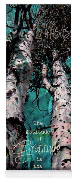 Turquois Trees  Yoga Mat
