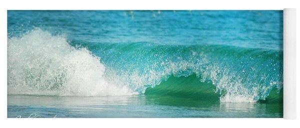 Turquois Waves  Yoga Mat