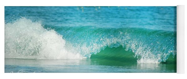 Yoga Mat featuring the photograph Turquois Waves  by Cindy Greenstein