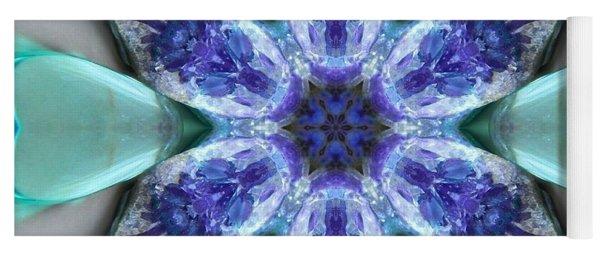 Turquoise Amethyst Star Mandala Yoga Mat