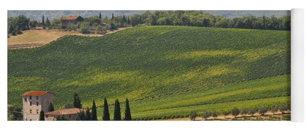 Yoga Mat featuring the photograph Tuscan Hillside by Susie Rieple