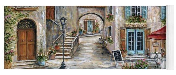 Tuscan Street Scene Yoga Mat