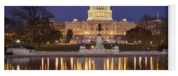 Yoga Mat featuring the photograph Twilight At Us Capitol by Brian Jannsen