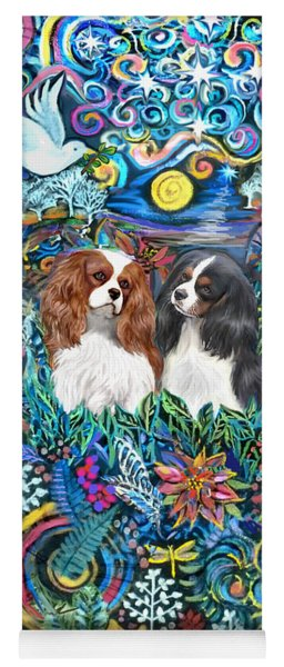 Two Cavaliers In A Garden Yoga Mat