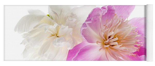 Two Peony Flowers Yoga Mat
