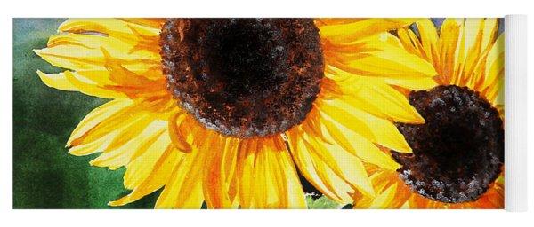 Two Suns Sunflowers Yoga Mat