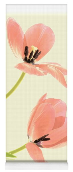 Two Tulips In Pink Transparency Yoga Mat