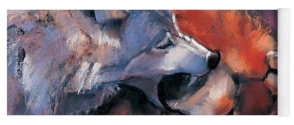 Two Wolves Yoga Mat