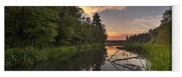 Yoga Mat featuring the photograph Tyler State Park Lake At Sunset by Todd Aaron