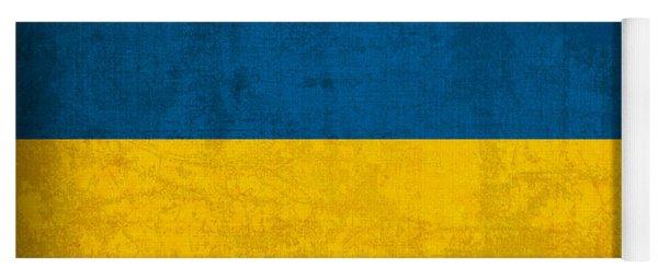 Ukraine Flag Vintage Distressed Finish Yoga Mat