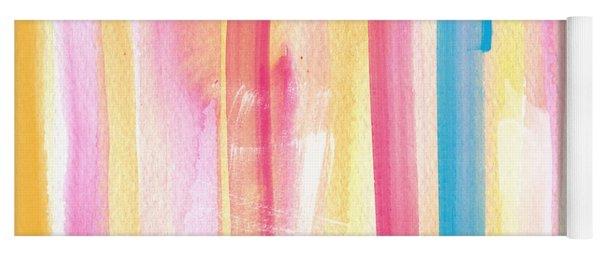 Umrbrella Stripe- Contemporary Abstract Painting Yoga Mat